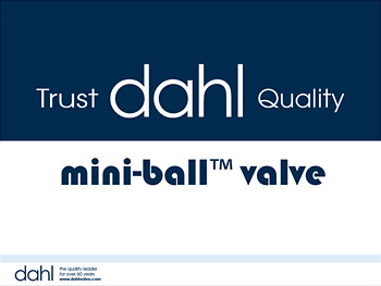 mini-ball™ valve, mini-ball training